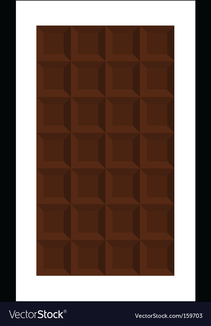 Bar of chocolate vector