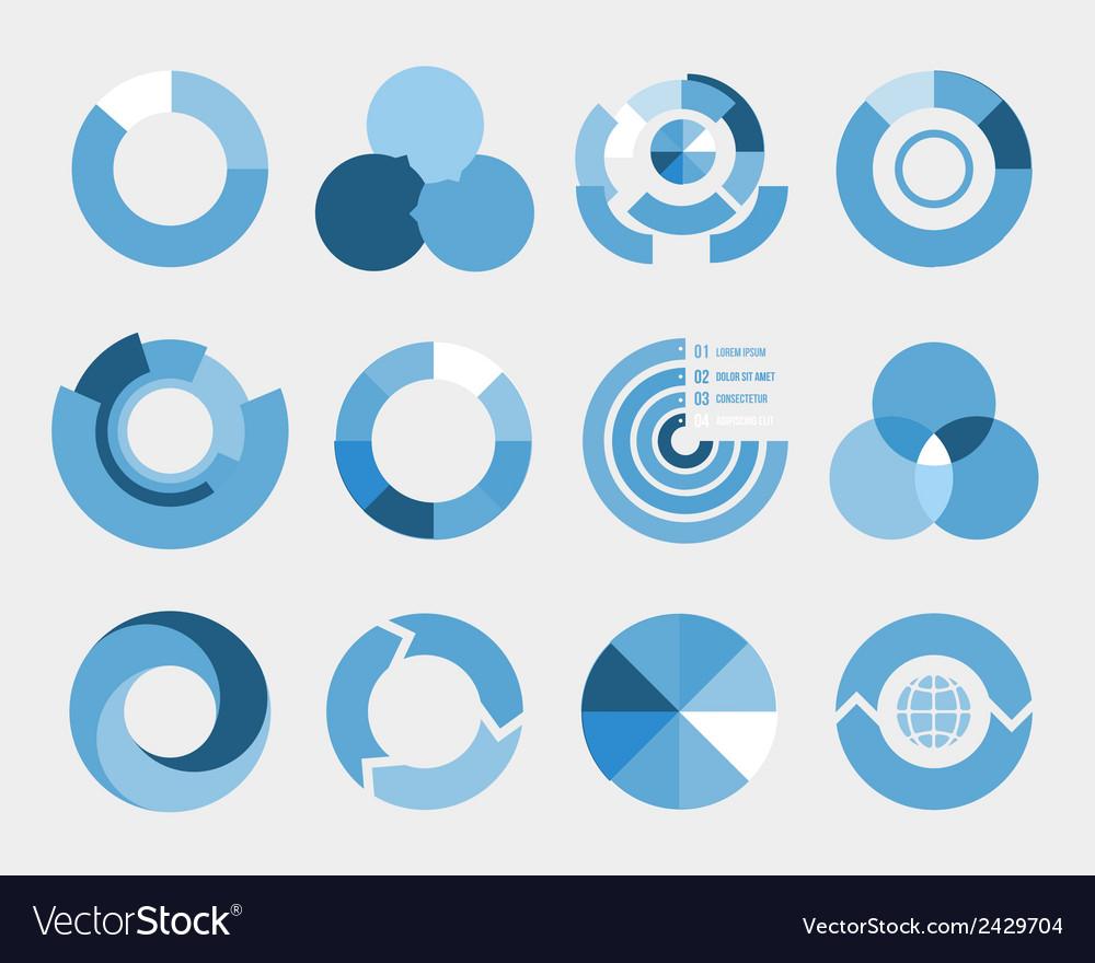 Circle diagram elements vector