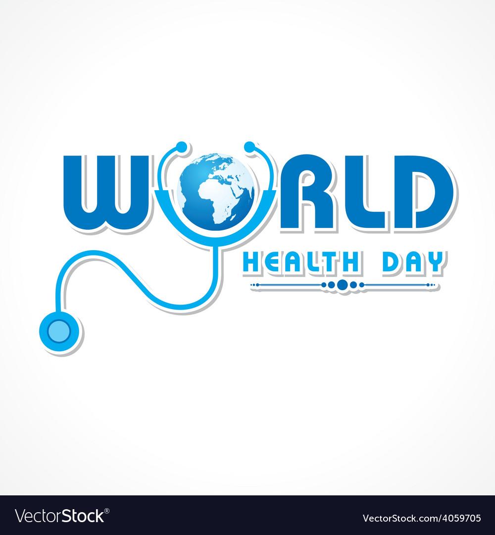 Creative world health day greeting vector