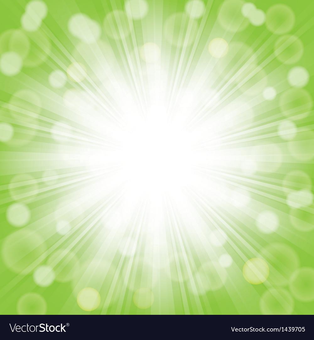 Green sunlight vector