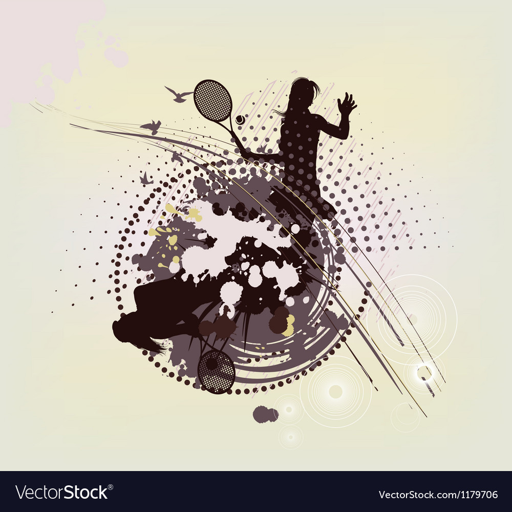 Abstract tennis background vector