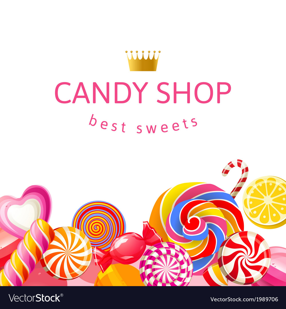 Background with candies vector