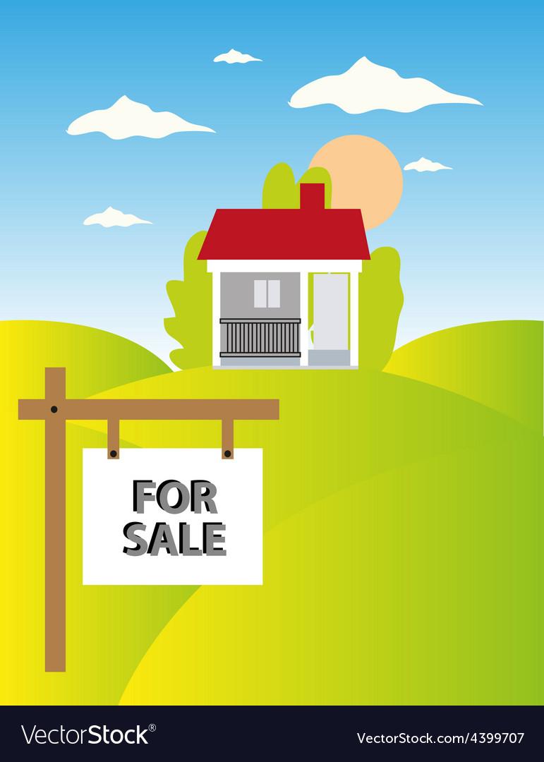 Land sale background vector