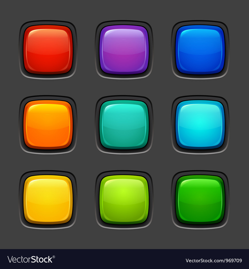 Color buttons vector