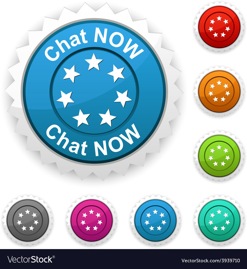 Chat now award vector