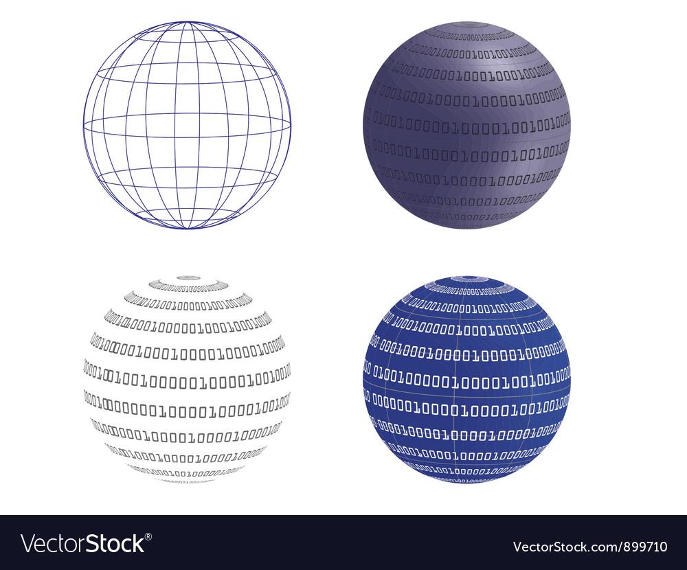 Digital globes vector