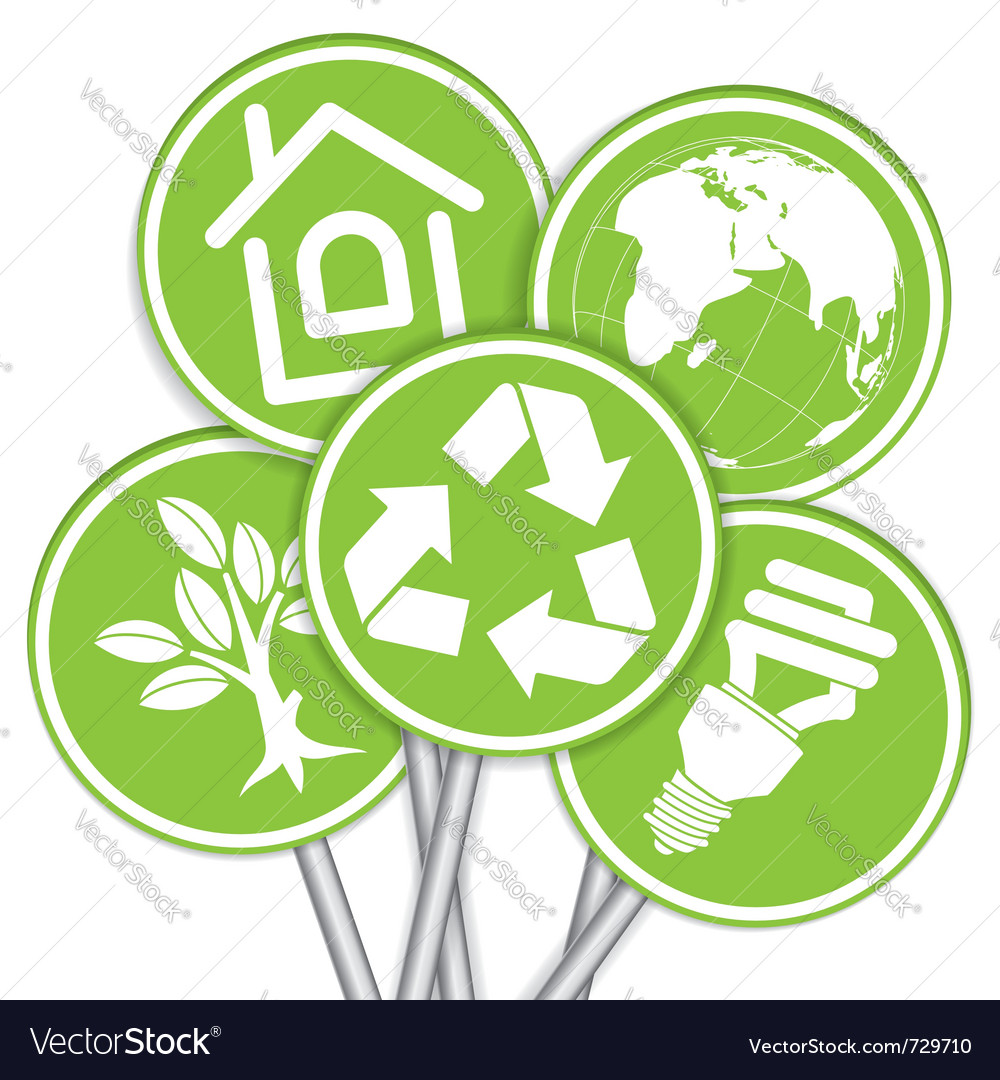 Environment icon tree vector