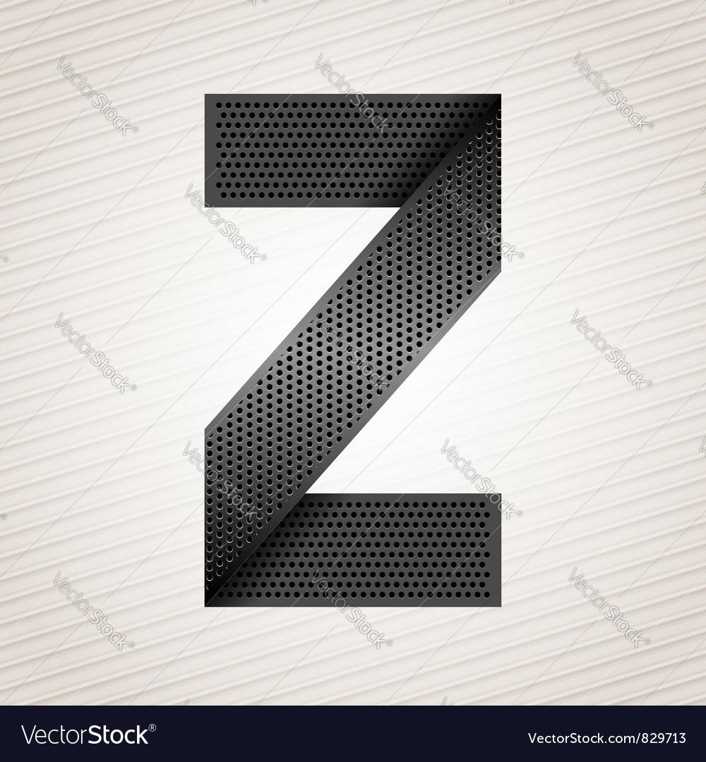 Letter metal ribbon - z vector