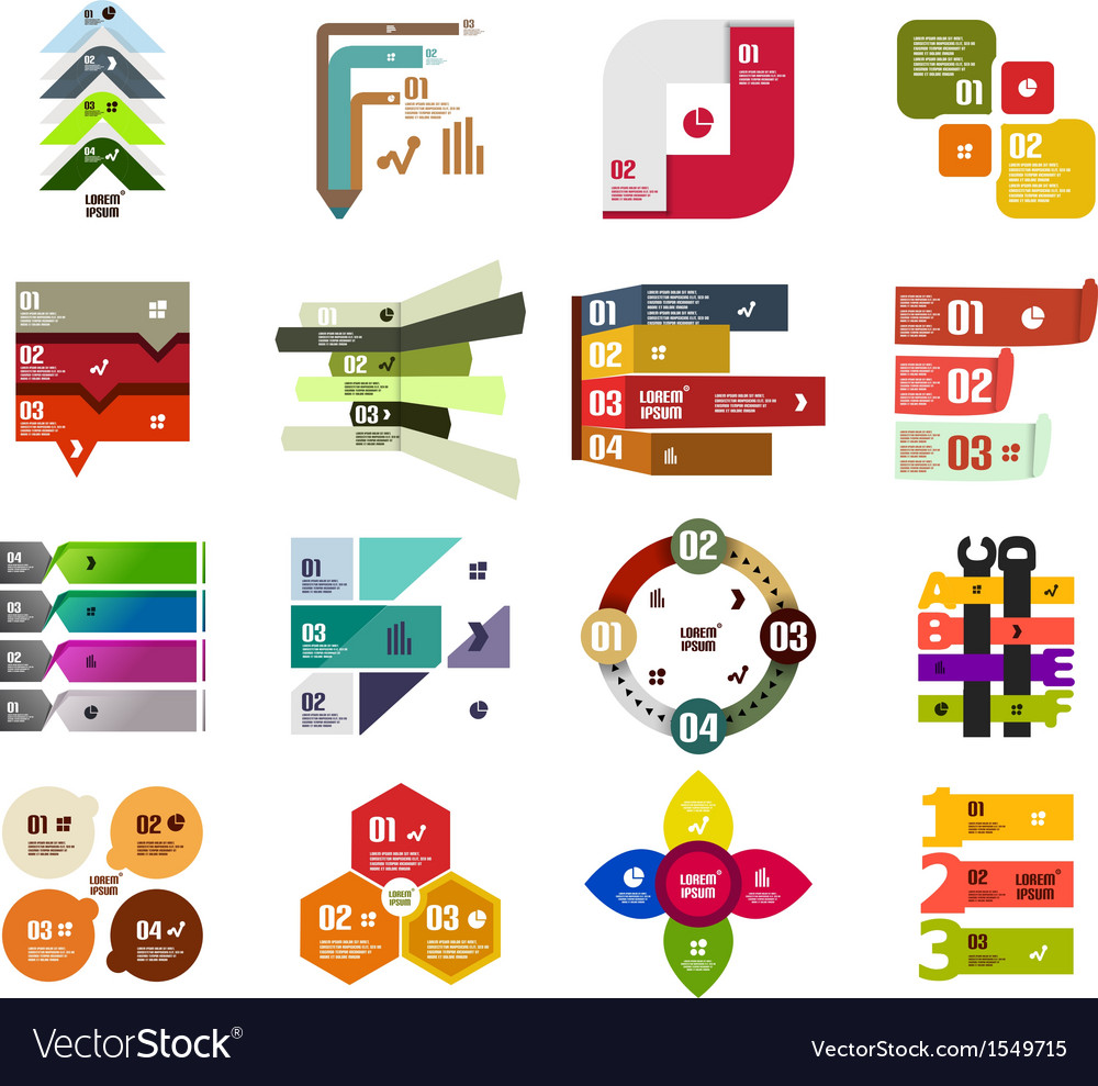 Set of modern infographic design templates vector