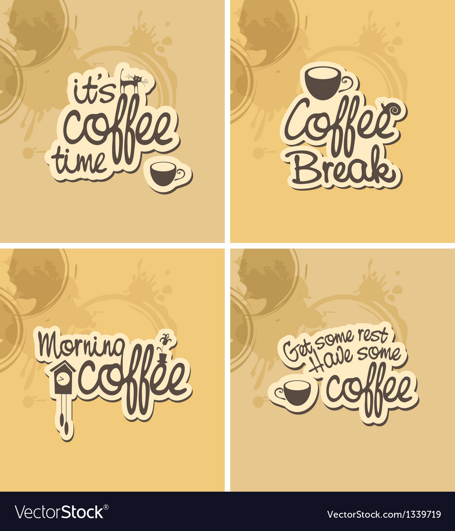 Coffee breaks vector