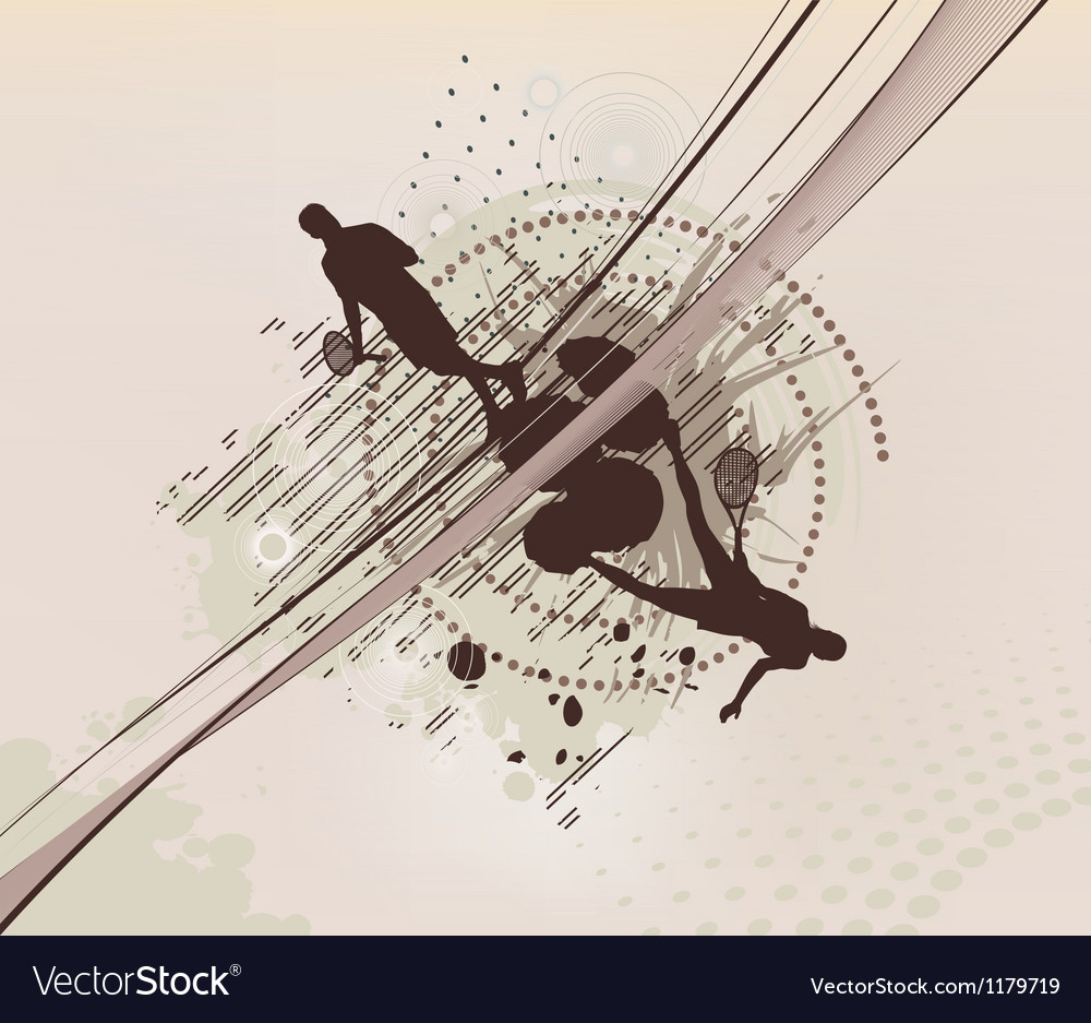 Tennis dotted background vector