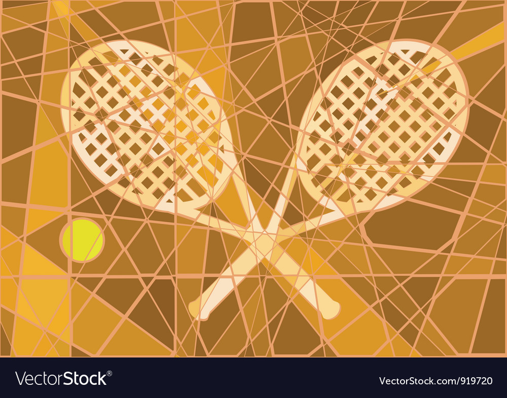 Clay court tennis vector