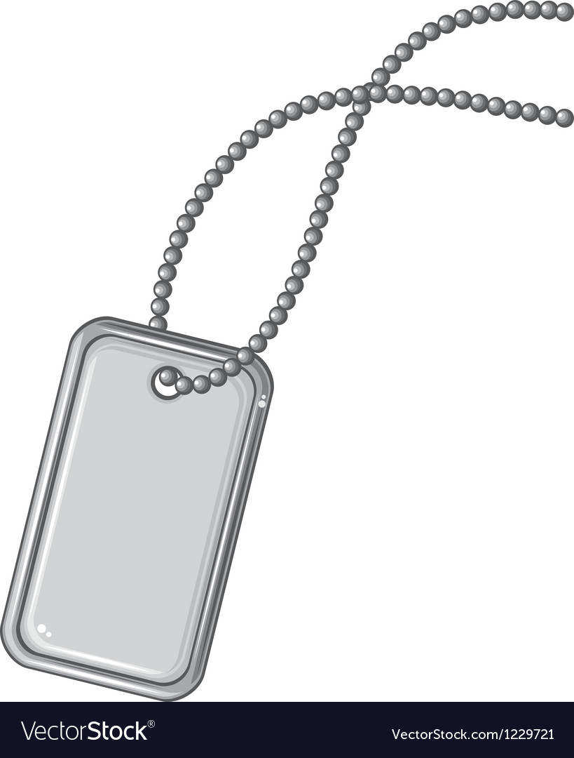 Blank metallic identification plate vector