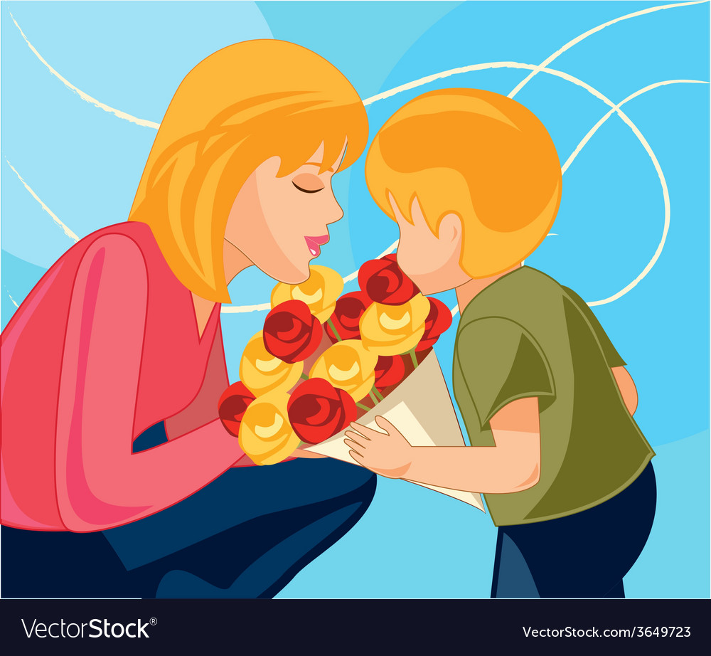 Mother-and-child vector