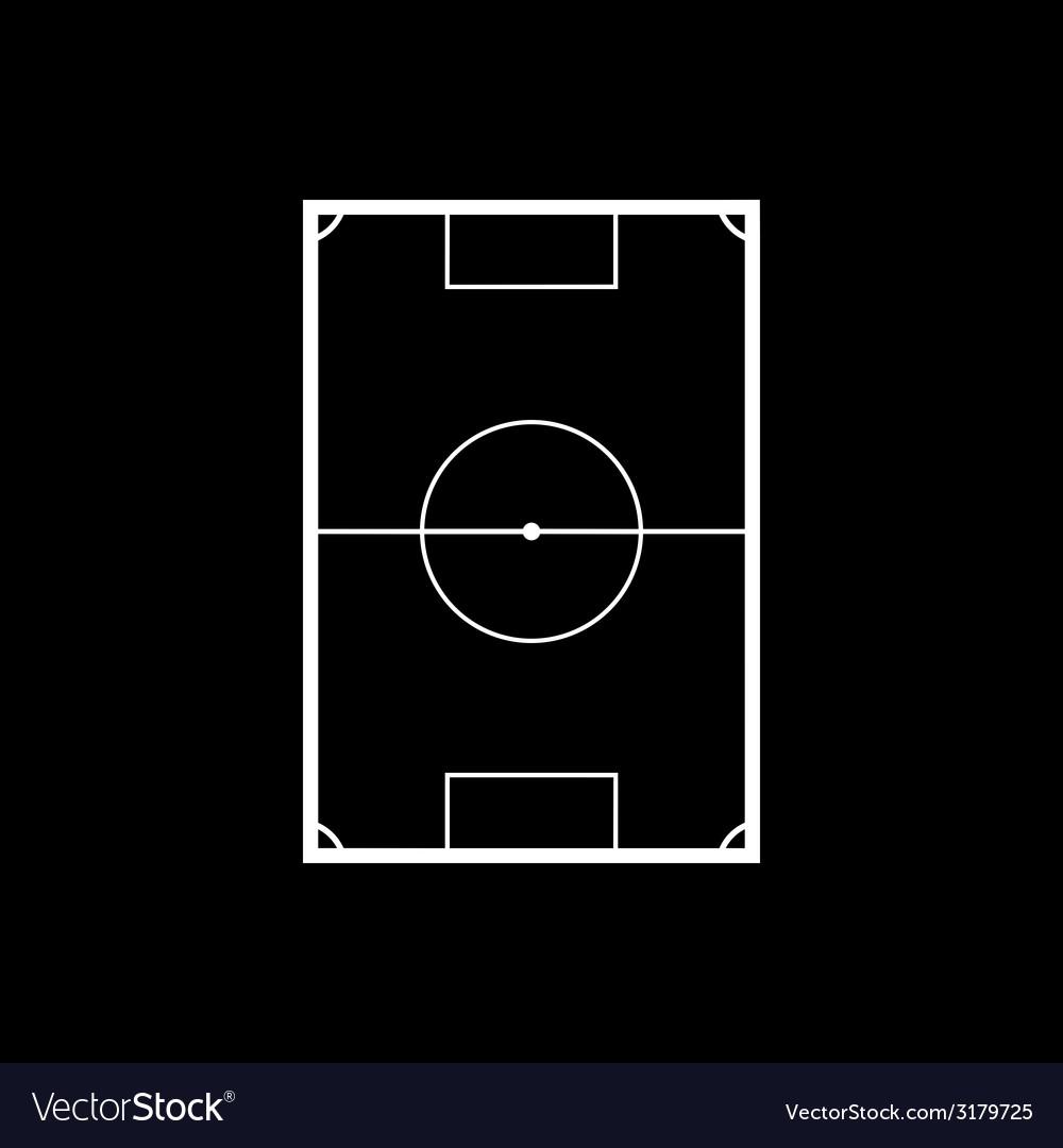 Football field on black background vector