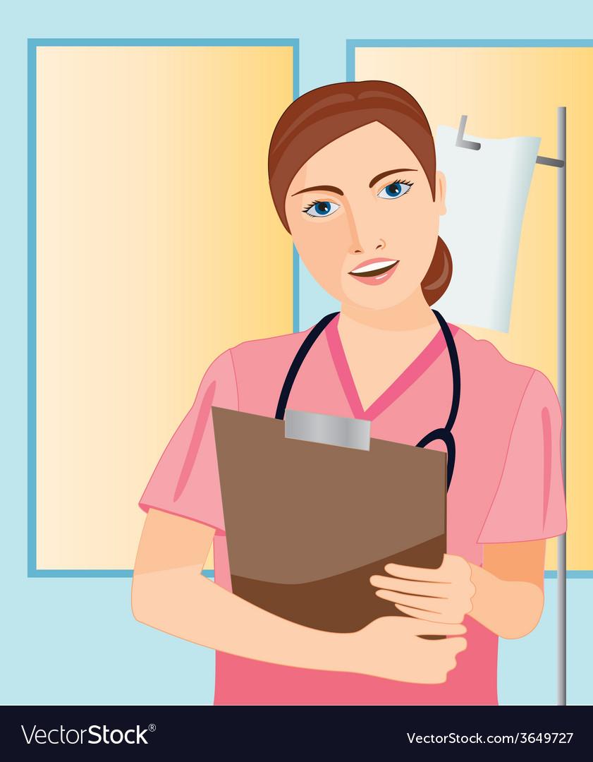 Nurse-at-the-hospital vector
