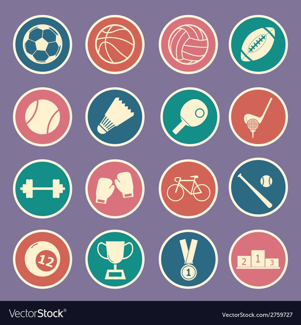 Sport icon vector