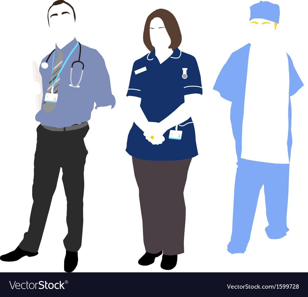 Uk hospital vector