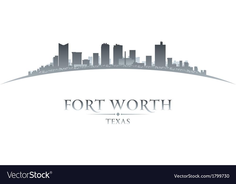 Fort worth texas city skyline silhouette vector