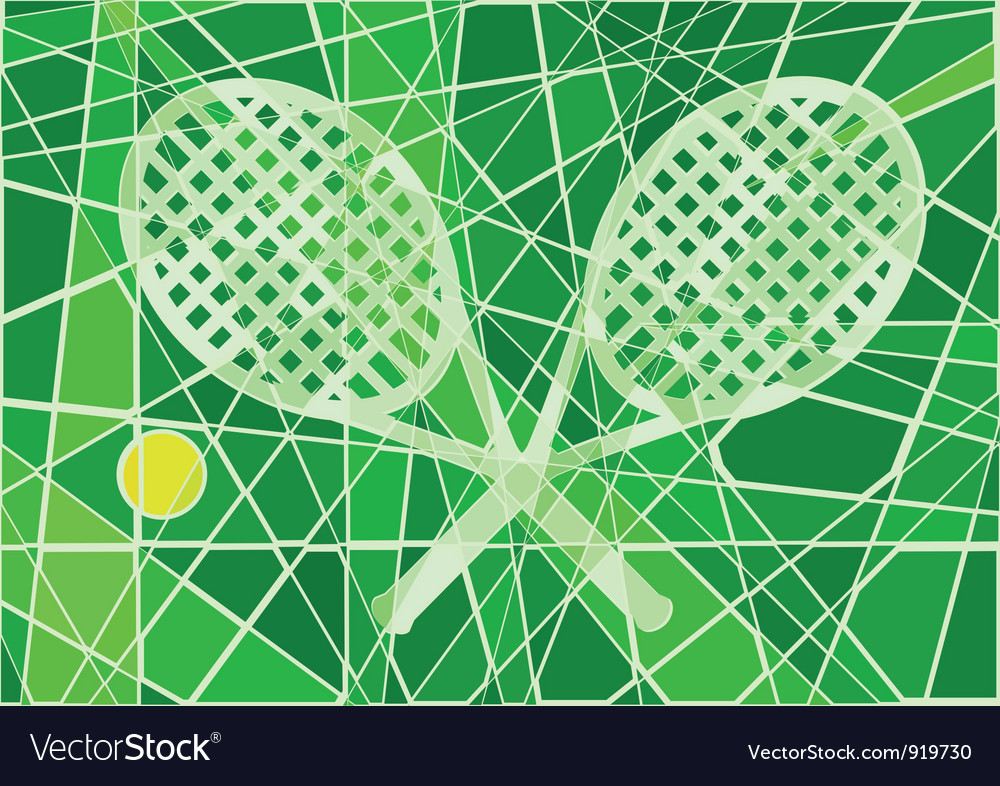 Grass court tennis vector