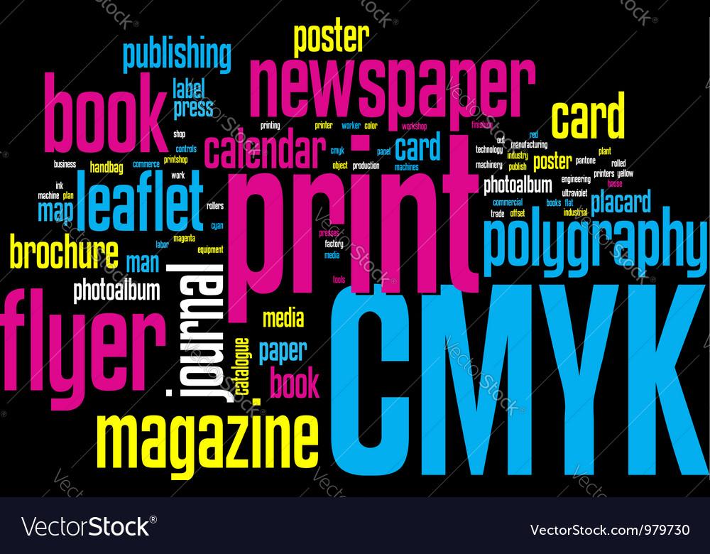 Printing word cloud vector