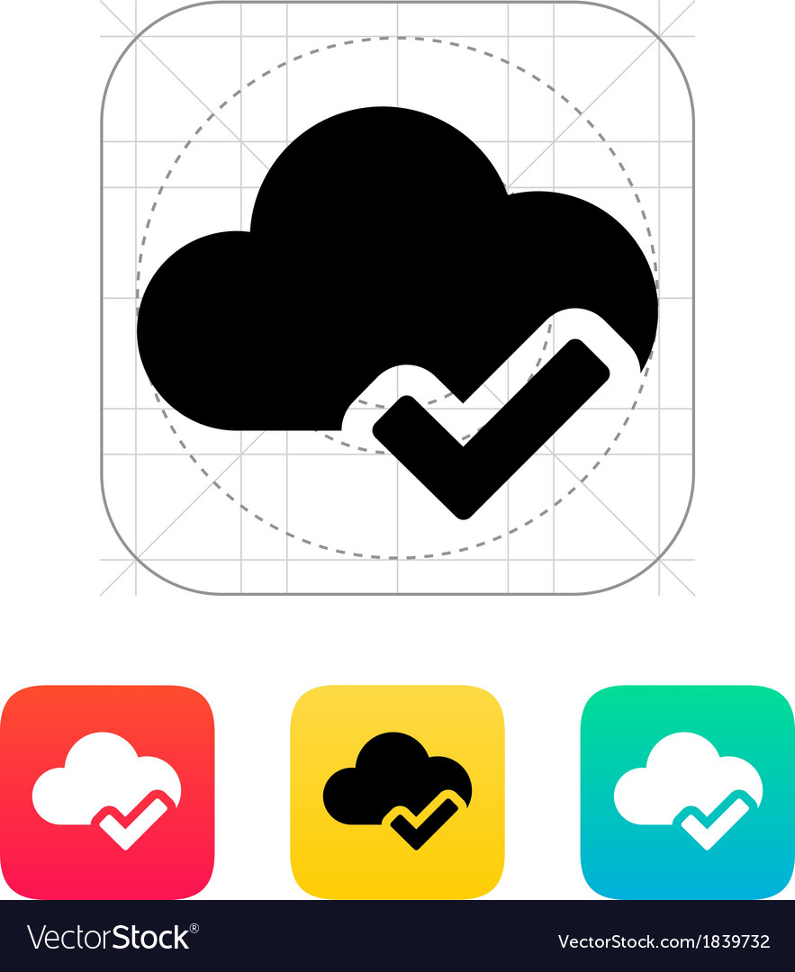 Check cloud icon vector
