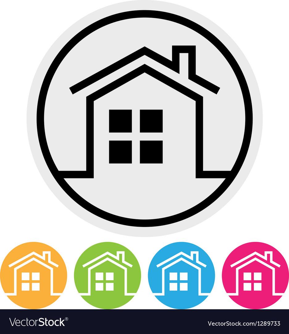 Round home button vector