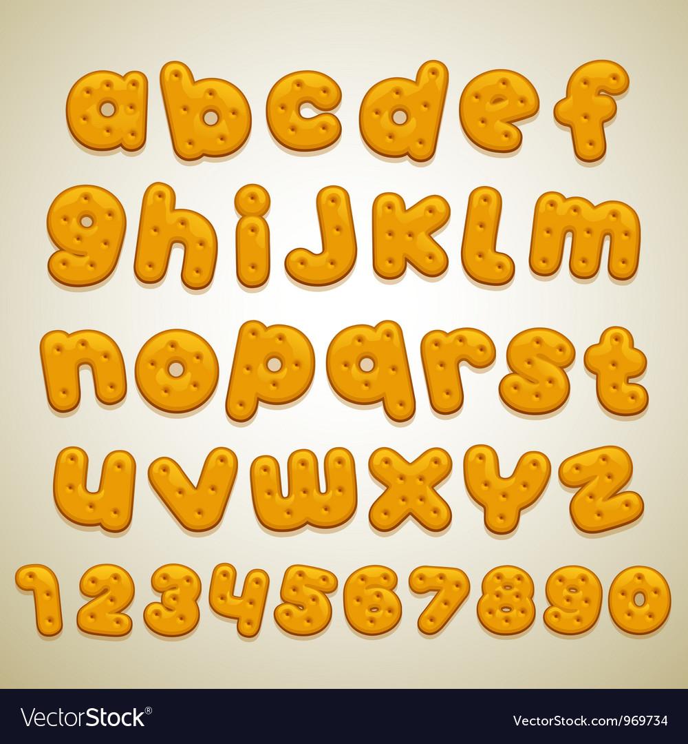 Cookies font vector