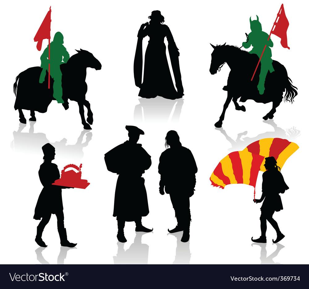 Medieval people vector