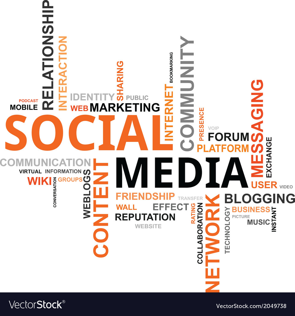 Word cloud social media vector