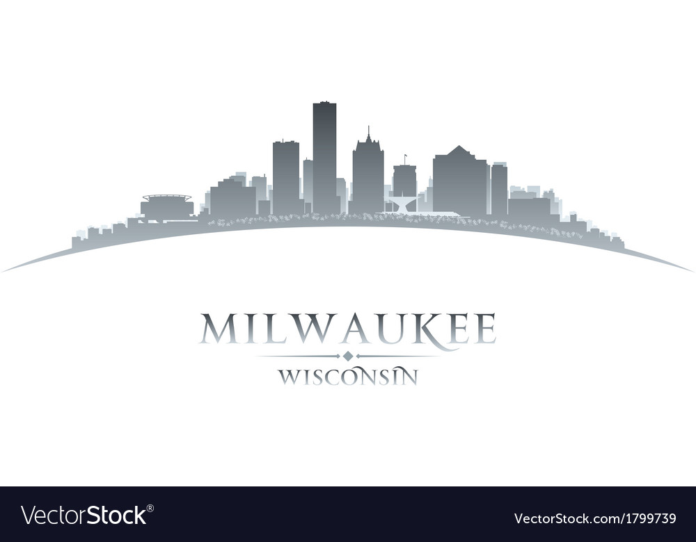 Milwaukee wisconsin city skyline silhouette vector