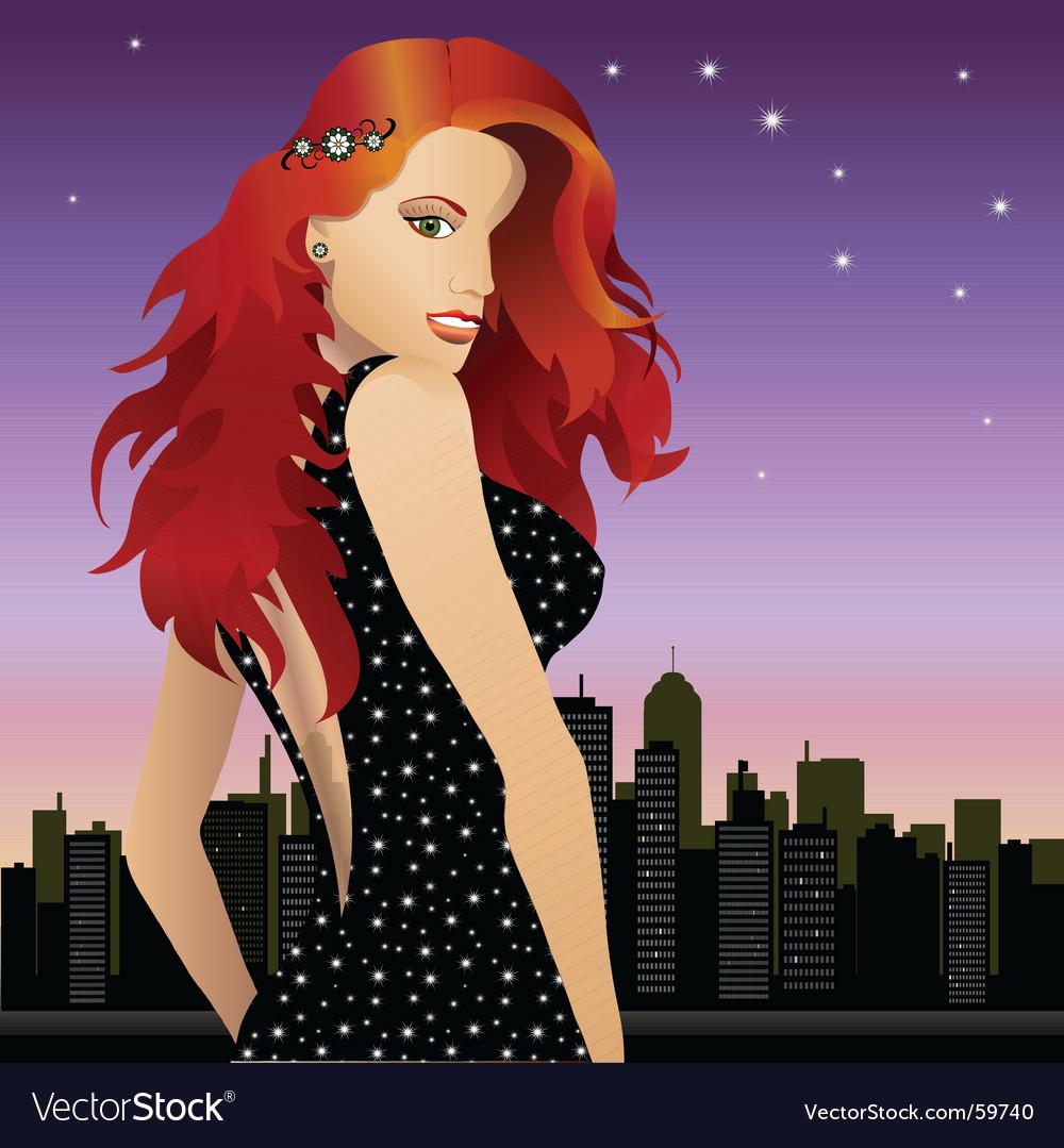 Woman city vector