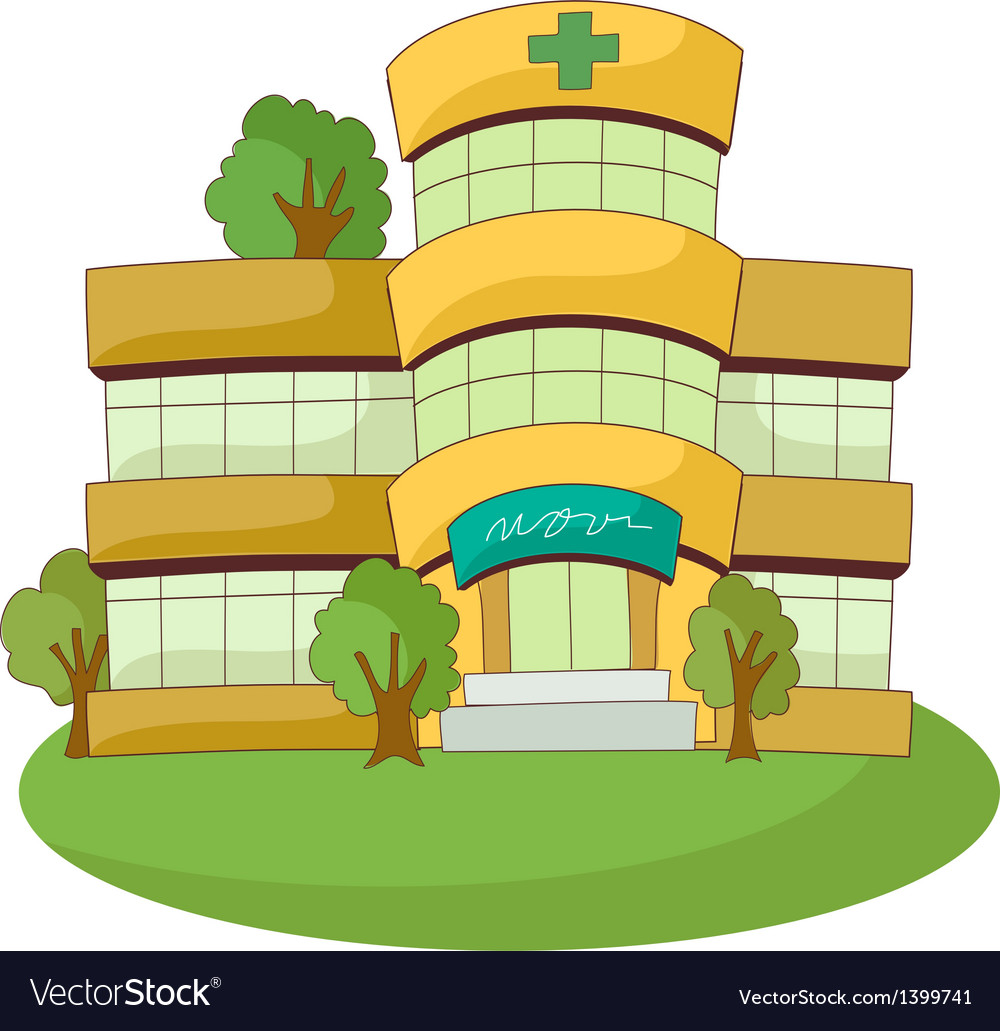 A view of hospital vector