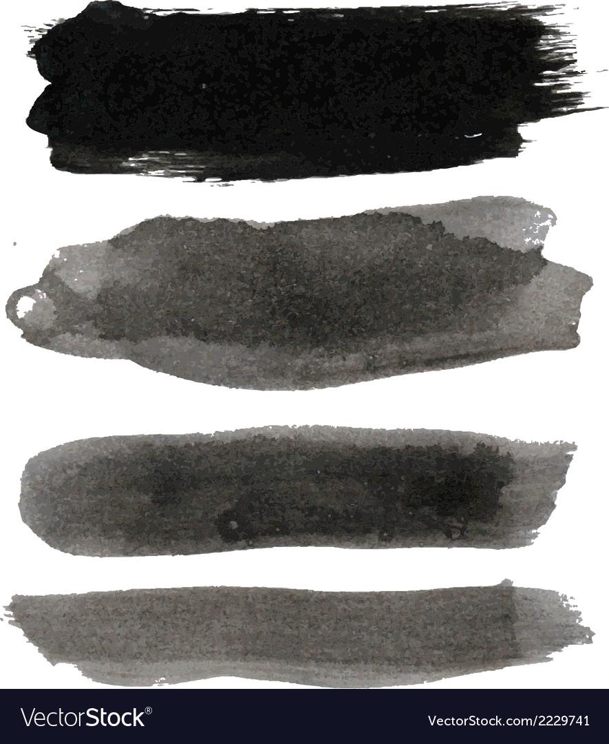 Big black blots collection vector