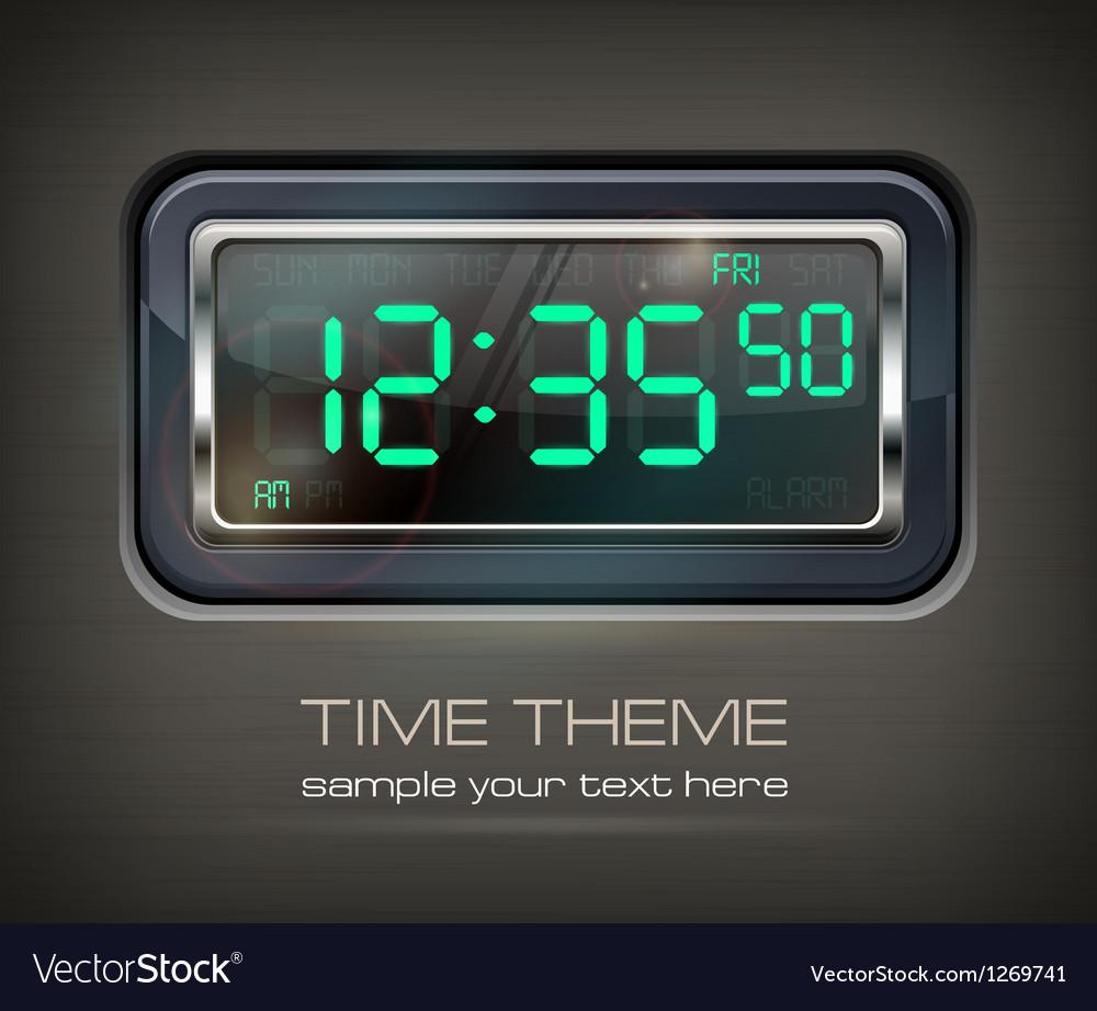 Digital watch  text vector