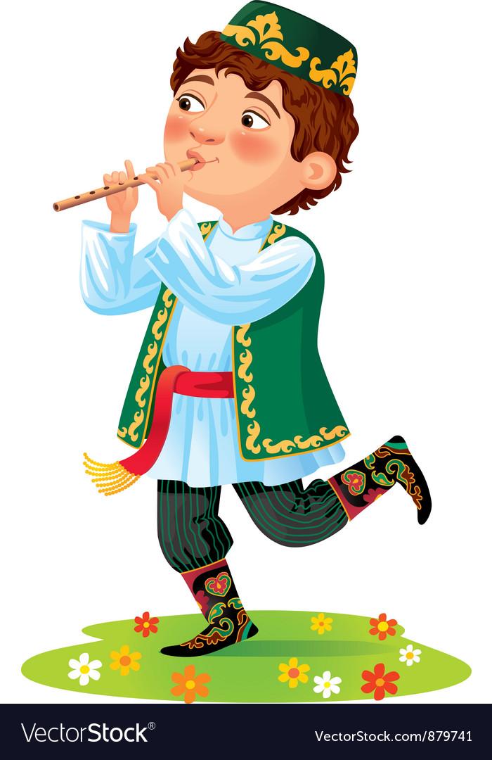 Tatar boy vector