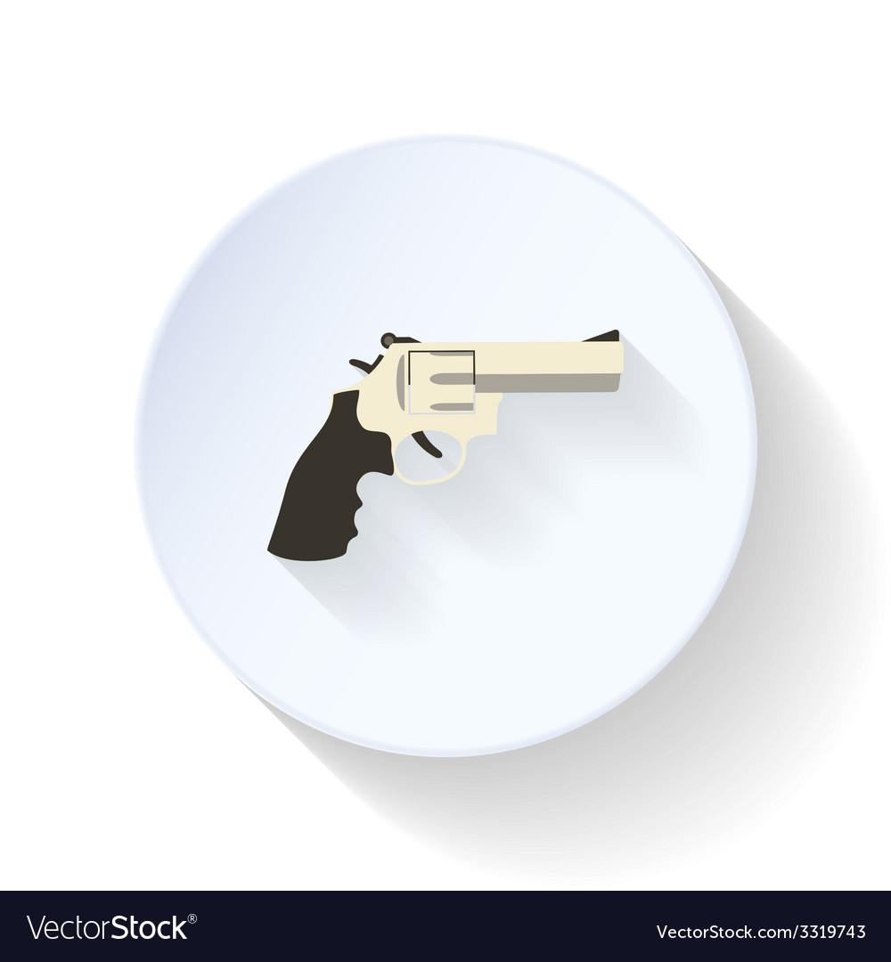 Pistol flat icon vector