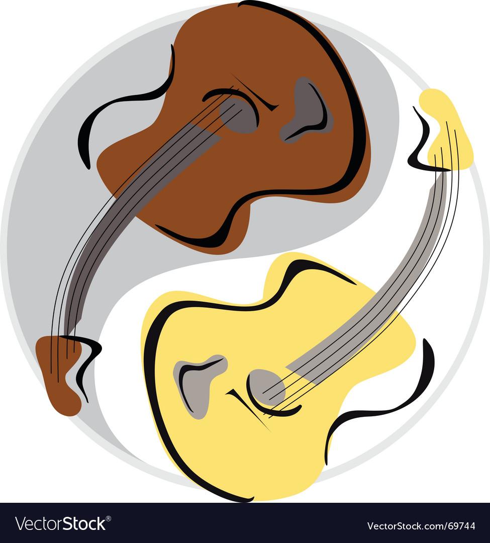 Guitar yinyang vector