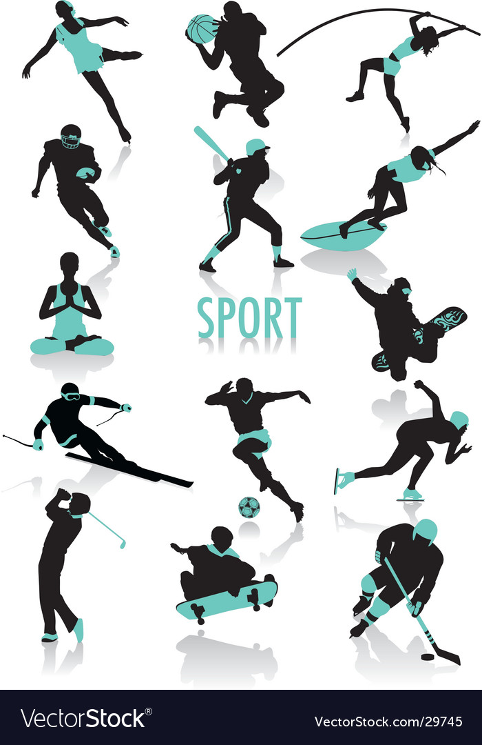 Sport silhouette vector