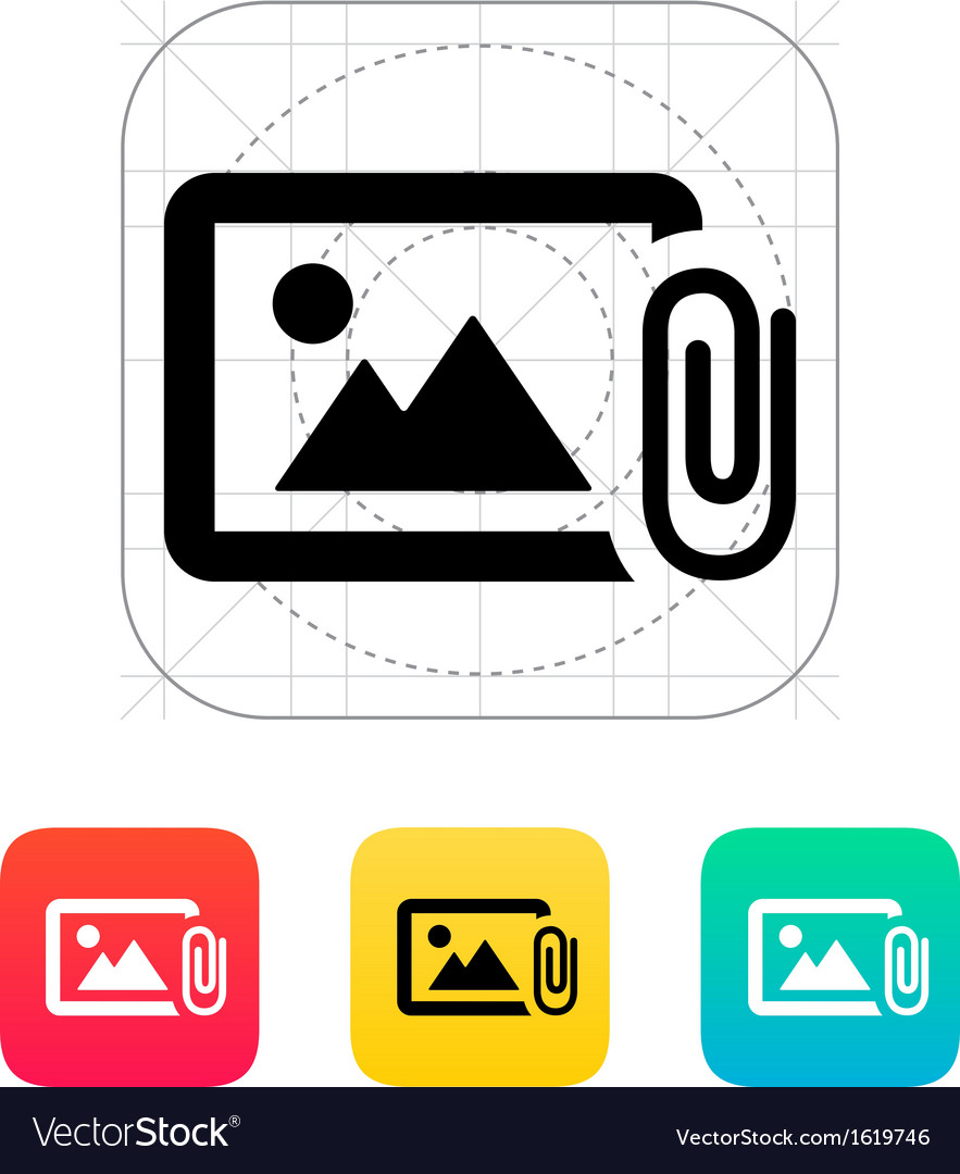 Attach photo icon vector