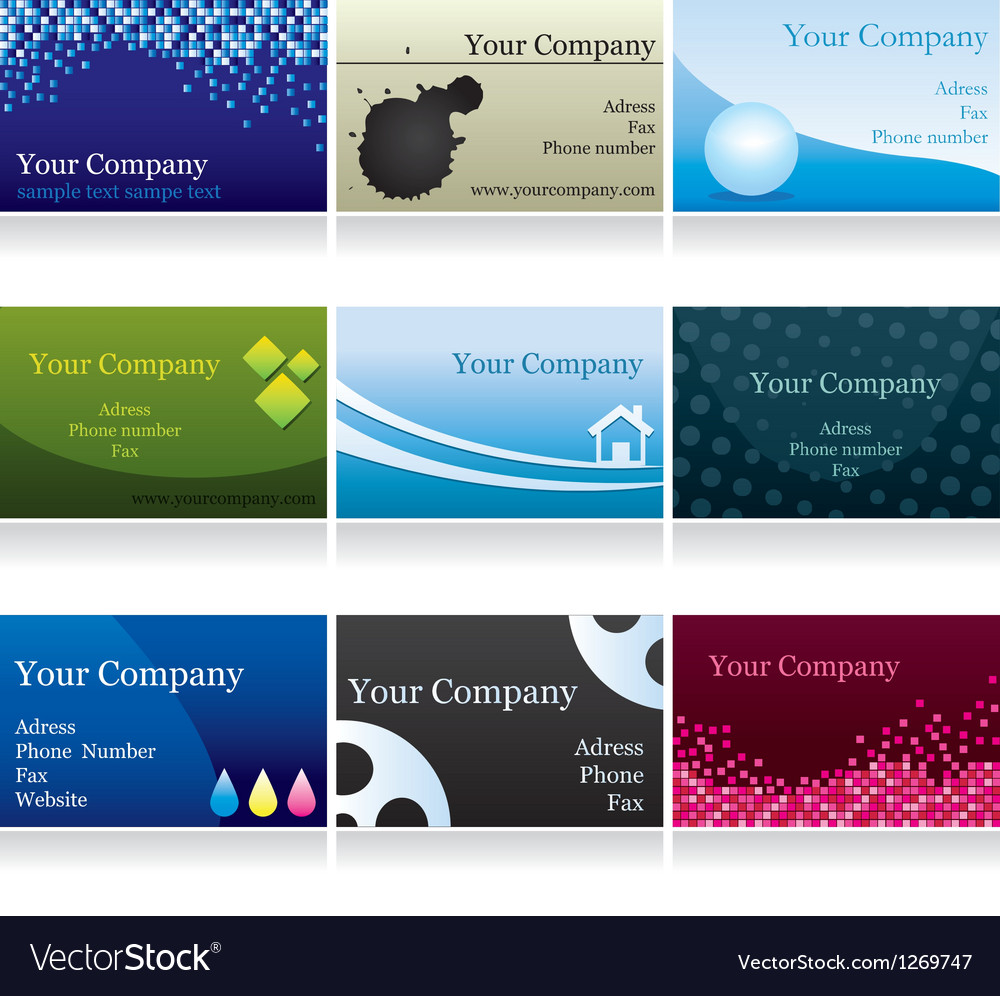 Business cards set iv vector