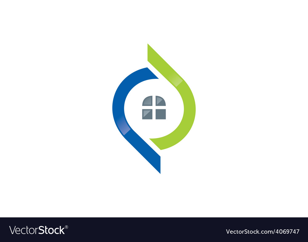 Home abstract architecture logo vector