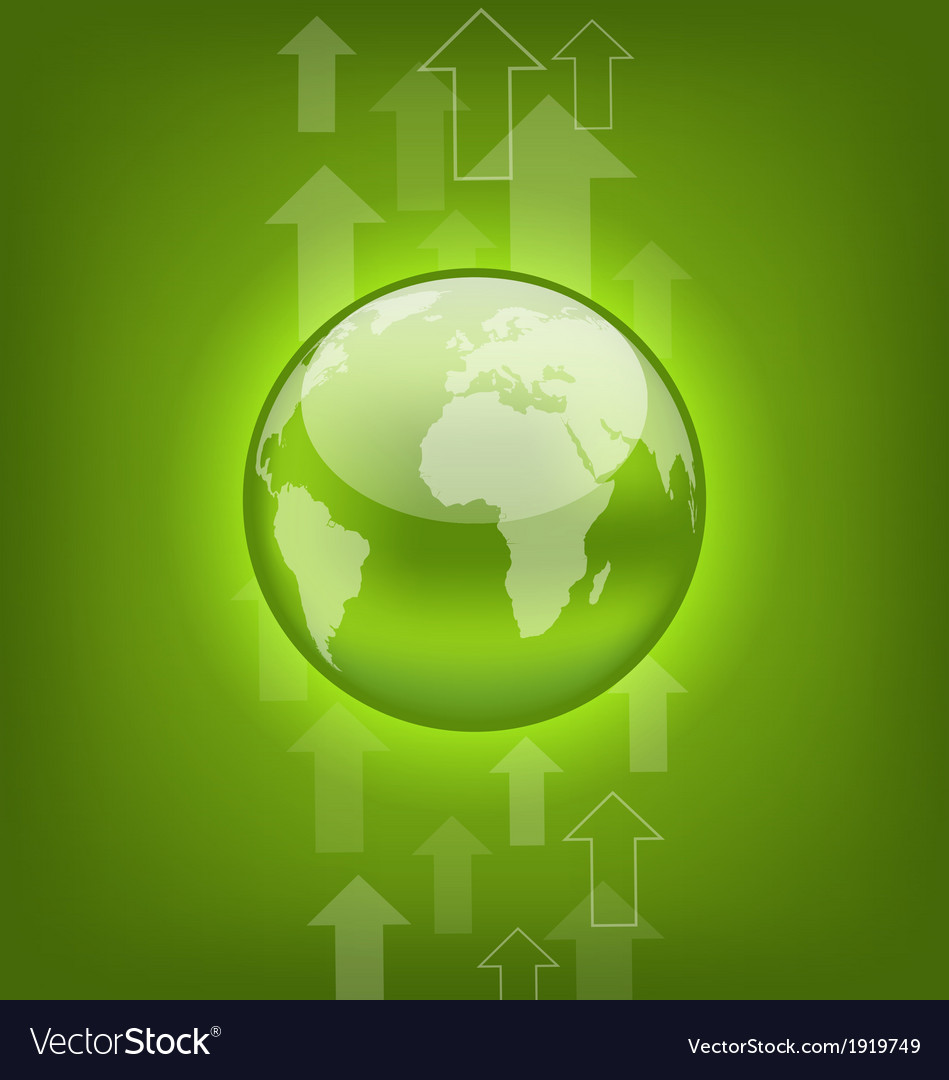 Abstract hi-tech background with symbol earth vector