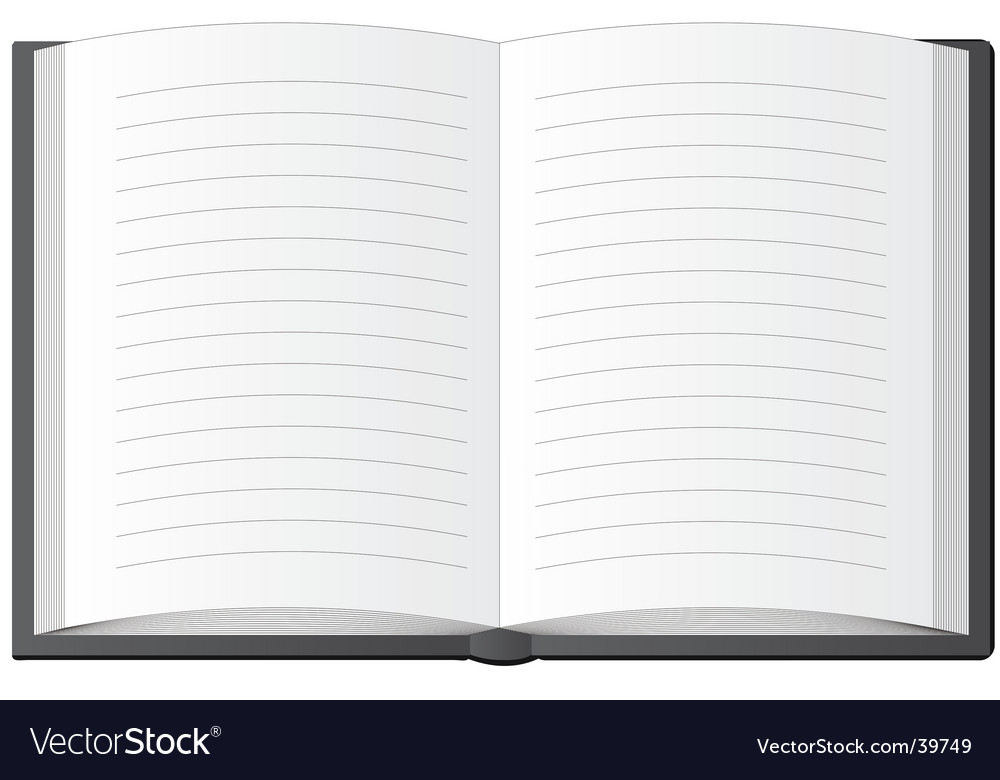The black notebook vector