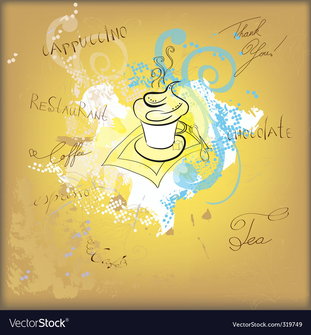 Coffee sketch vector