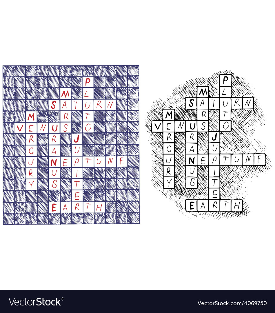 Crosswords vector