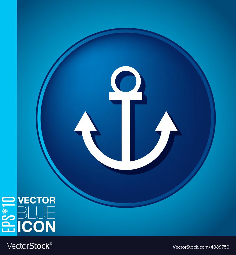 Nautical anchor anchor seafaring character icon vector