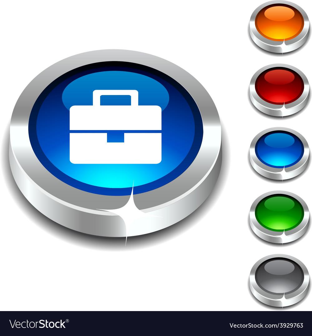 Bag 3d button vector