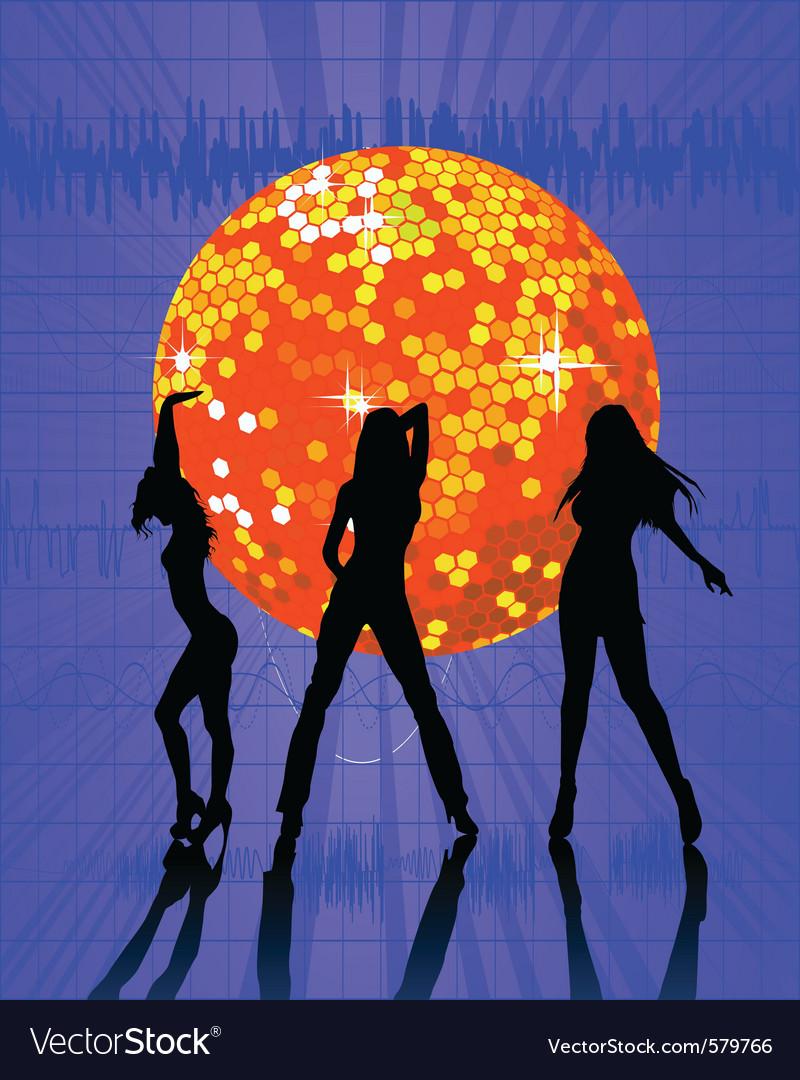 Disco ball nightclub vector