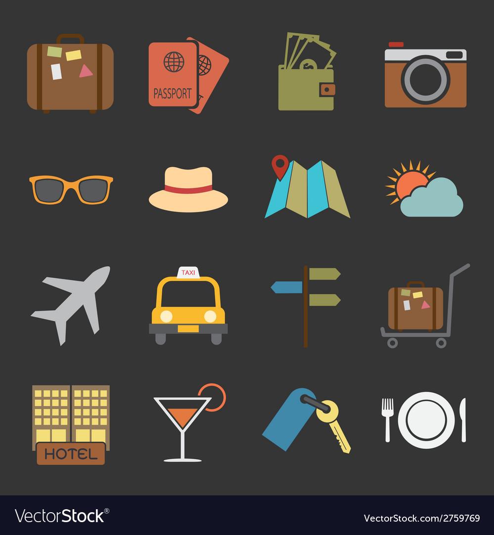 Travel icon vector